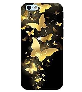 PrintDhaba BUTTERFLY PATTERN D-6854 Back Case Cover for APPLE IPHONE 6 PLUS (Multi-Coloured)