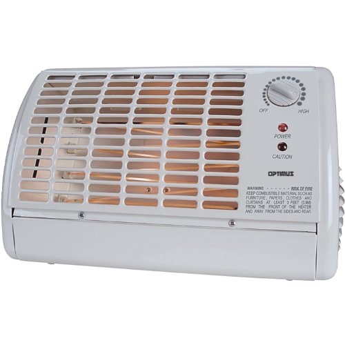 KSBP Optimus H-2210 Portable Fan Forced Radiant Heater with Thermostat