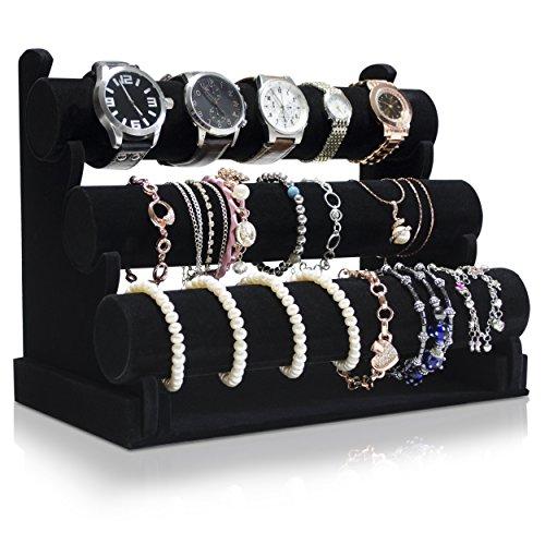 venkon-3-etages-porte-bijoux-pour-rangement-presentation-de-bijouterie-organisateur-velours-noir-23-