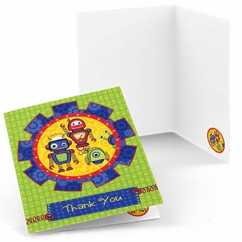 Robots Thank You Cards (8 count)