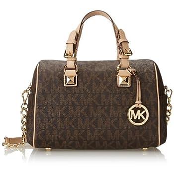 Michael Kors Signature Print Satchel Handbag Bag 30F2GGCS2B