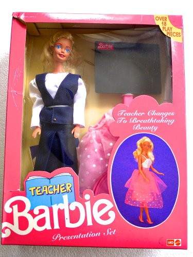 Teacher Barbie Presentation Set (Made For Sale In India In Early 1990'S) - Rare front-1039457
