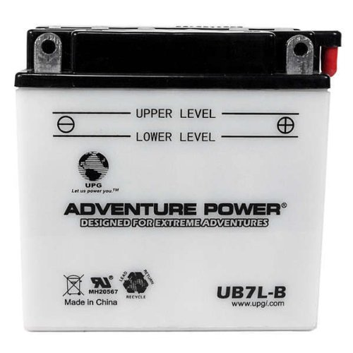 Upg 42509 - Oem Yb7L-B - Motorcycle Battery - Conventional (Wet Pack) - 12 Volt - 8 Ah Capacity - F Terminal
