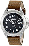 Timex Men's T499459J Expedition Rugged Metal Field Olive Leather Strap Watch