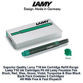 Lamy T10 Lot de cartouches d'encre pour stylo-plume Vert de rechange pour toutes les recharges Lamy Stylo Fountian 5-25 Lot de cartouches d'encre)