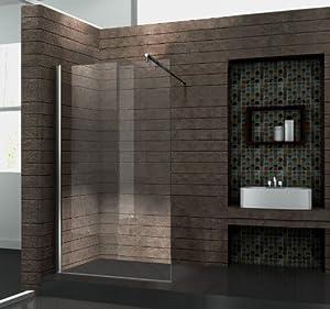 Walk In 10 mm Duschwand Duschabtrennung Duschkabine Dusche 50x200 cm AQUOS  BaumarktKritiken und weitere Infos