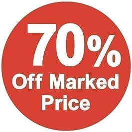 Audioprint Ltd Aucollants de Prix 70% Marqué 70% de Moins - Paquet de 500 - 35mm