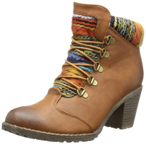 Rieker Womens 95323 Boots Brown Braun (cognac/orange-multi 22) Size