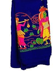 Inhika Women's Kurti Fabric (Inhika_513_Blue Multicolor)