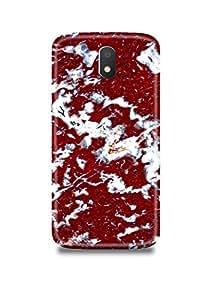 Red & White Marble Moto E3 Case-939