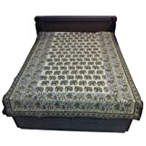"""60X90"""" Bagru Print Block Print Double Bed Spread- Double Bed Cover- Double Bed Sheet - Online Shopping For Home... - B00G8V89SU"""
