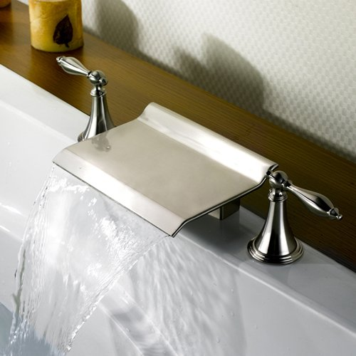 Delta brushed nickel waterfall faucets price compare - Best price delta bathroom faucets ...