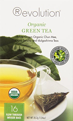 Revolution Tea Green Tea, Organic, 16 Count (Pack Of 6)