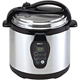 Nesco PC6-25 Digital Pressure Cooker, Stainless Steel, 6-Quart, Black/Silver
