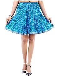 Sunshine Enterprises Women's Cotton Wrap Skirt (Blue)