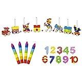Goki Cumpleaños Tren Circo zikus Mundo Números 1-1010velas Multicolor-La lulugos