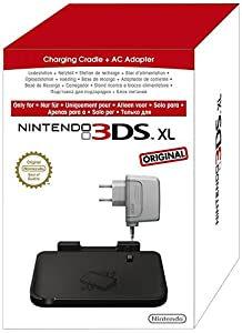 nintendo 3ds xl stand ricarica blocco alimentatore nero charging cradle ac adapter. Black Bedroom Furniture Sets. Home Design Ideas