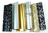 10 Rollen Luxus Weihnachtspapier hochwertiges Geschenkpapier...