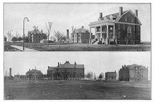 n-dakota-state-uni-grand-forks-davis-hall-president-house-science-budge-1907-old-print-antique-print