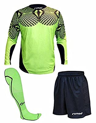 Rinat Geometric Soccer Goalkeeper Kit - Green - Size XL