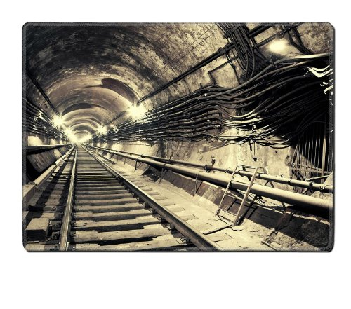 Endless Subway Tunnel Abstract Design Placemat Pads Customized Made To Order Support Ready 15 6/8 Inch (400Mm) X 11 13/16 Inch (300Mm) X 1/8 Inch (3Mm) High Quality Eco Friendly Cloth With Neoprene Rubber Luxlady Place Mouse Pad Desktop Mousepad Laptop Mo front-1063567