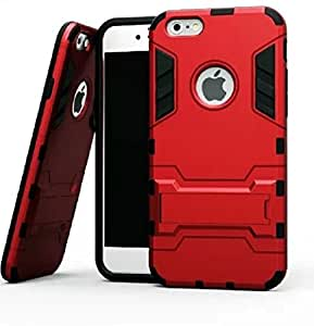 Heartly Graphic Designed Stand Hard Dual Rugged Armor Hybrid Bumper Back Case Cover For Apple iPhone SE / 5 5S 5G - Hot Red