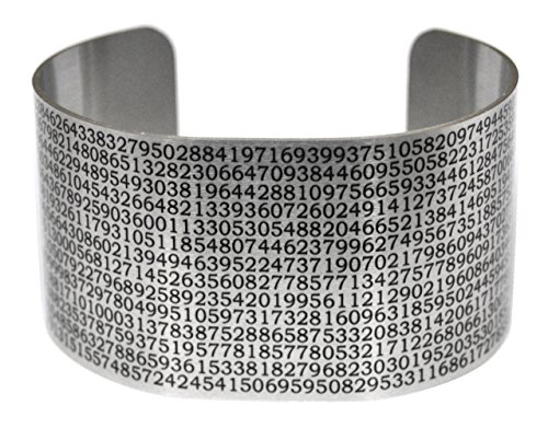 Value of Pi Cuff - Aluminum Wide Bracelet - Math - Geek Chic - Neurons Not Included
