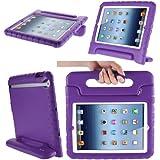 iPad Mini 3 Case, i-Blason Apple iPad Mini / iPad Mini with Retina Display (2nd Generation) ArmorBox Kido Series Light Weight Super Protection Convertible Stand Cover Case for Kids Friendly (Purple)