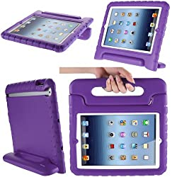 i-Blason Apple iPad Mini with Retina Display (2nd Generation) ArmorBox Kido Series Light Weight Super Protection Convertible Stand Cover Case (Purple)