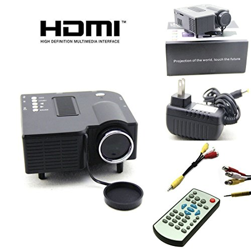 CROCON UC 28+ Mini Portable Multimedia Projector Connect with HDMI/VGA/AV/USB/SD.
