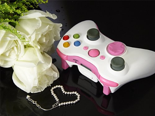 Pink Lady Xcm Led Lighted Xbox 360 Wireless Controller Shell (Custom Mod)