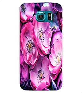 PrintDhaba Flowers D-2837 Back Case Cover for SAMSUNG GALAXY S6 (Multi-Coloured)
