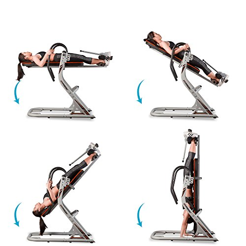 HARISON Inversion Table for Back Pain with 180 Full Inversion, Back Inversion Tables with 3D Memory Foam for Backrest, Adjustable Four Angle, 4.8''-6.4'' for Height