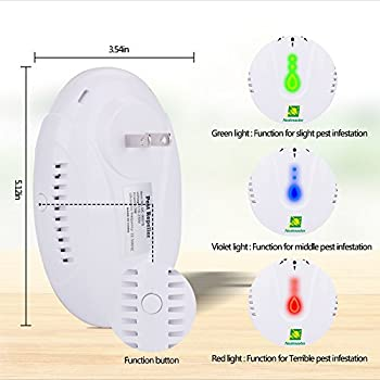 Neatmaster Ultrasonic Pest Repellent - Electronic Pest Control Plug In-Pest Repeller for Insect - Mice , Roaches , Bugs , fleas , Mosquitoes , Spiders