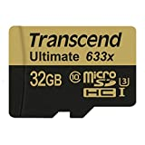 Transcend 32 GB MicroSDHC Class 10 UHS-I/U3 Memory Card With Adapter 95 Mb/s (TS32GUSDU3)