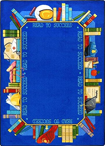 "Read To Succeed Premium Cut Pile Stainmaster Nylon Area Rug (5'4""X7'8"") front-983188"