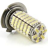 2 pcs Super Bright 6000K Xenon White H7 120 3528 SMD LED Headlamp Light Bulb For Mitsubishi Nissan Infinity Isuzu Suzuki Subaru Scion Toyota