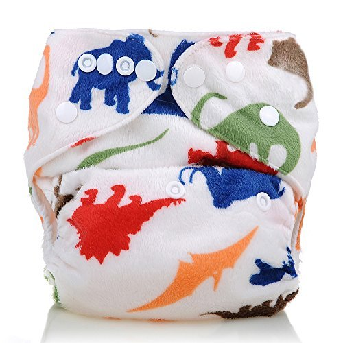 Reusable Washable Microfleece One Size Cloth Diapers, Muticolor Animals