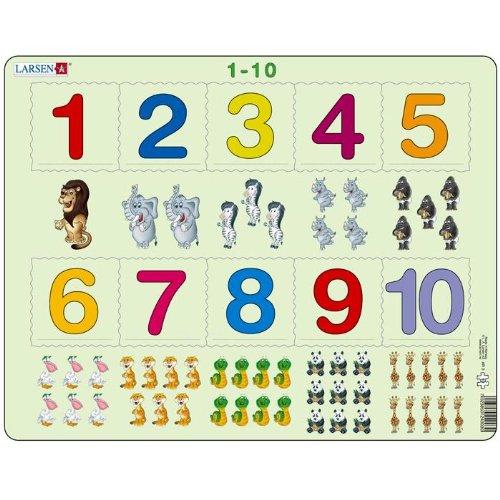 Puzzle apprendre les numéros puzzle éducatif Larsen de 1 à 10 Maternelle Enfants