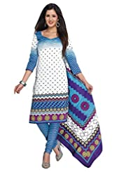 AASRI Women Cotton Unstitched Salwar Suit - B015N8OUHM