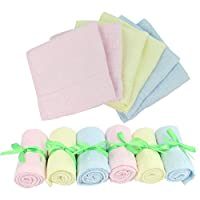 """Baby Washcloths Wipes Ultra Soft - 100% Natural Organic Bamboo Face Towel - Premium Extra Soft & Absorbent Baby Wash Cloth - Perfect 10""""x10"""" 6 Pack Reusable Wipes for Newborn Boy & Girl by Diggold by Diggold"""
