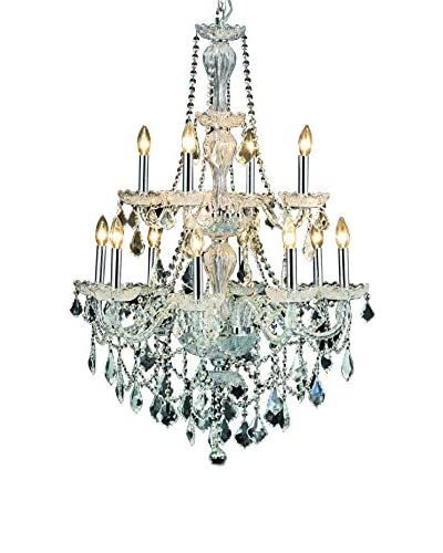 Crystal Lighting Giselle 12-Light Chandelier, Chrome As You See