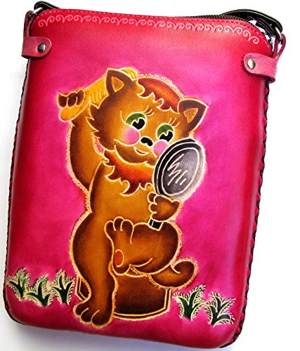 Cutie Cat - All Leather Hand Worked Purse