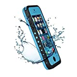 Iphone 5C IPX68 Waterproof Case Cover,Nika shop Series Untra Full Body Armor Heavy Duty hockproof Dustproof Sweatproof, Dirtproof Snowproof Snow Proof Durable Protective Hard Shell Cover Case With Built-In Ultra Clear Screen Protector For iphone 5C Verizon, AT&T Sprint, T-mobile, Unlocked - Retail Packaging (Nika shop-Blue)
