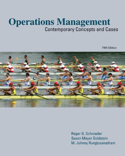 Operations Management:  Contemporary Concepts and Cases...