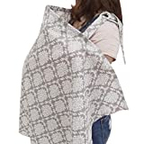 Chalier Privacy Breast Feeding Nursing Cover, Nursing Apron for Breastfeeding Baby in Public - Full Coverage, 100% Breathable Soft Cotton, Stylish and Elegant