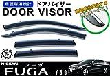【説明書付】 日産 フーガ Y50 メッキモール ドアバイザー サイドバイザー /取付金具付