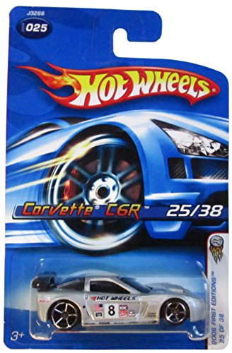 Hot Wheels 2006-025 First Editions Corvette C6R 25/38 SILVER 1:64 Scale