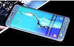 Supstar Luxury Sparkly Bling Full Body Skin Sticker Wrap Covered Edges Vinyl Decal Screen Protector Film for Samsung Galaxy S6 Edge Plus G9280 (Blue)