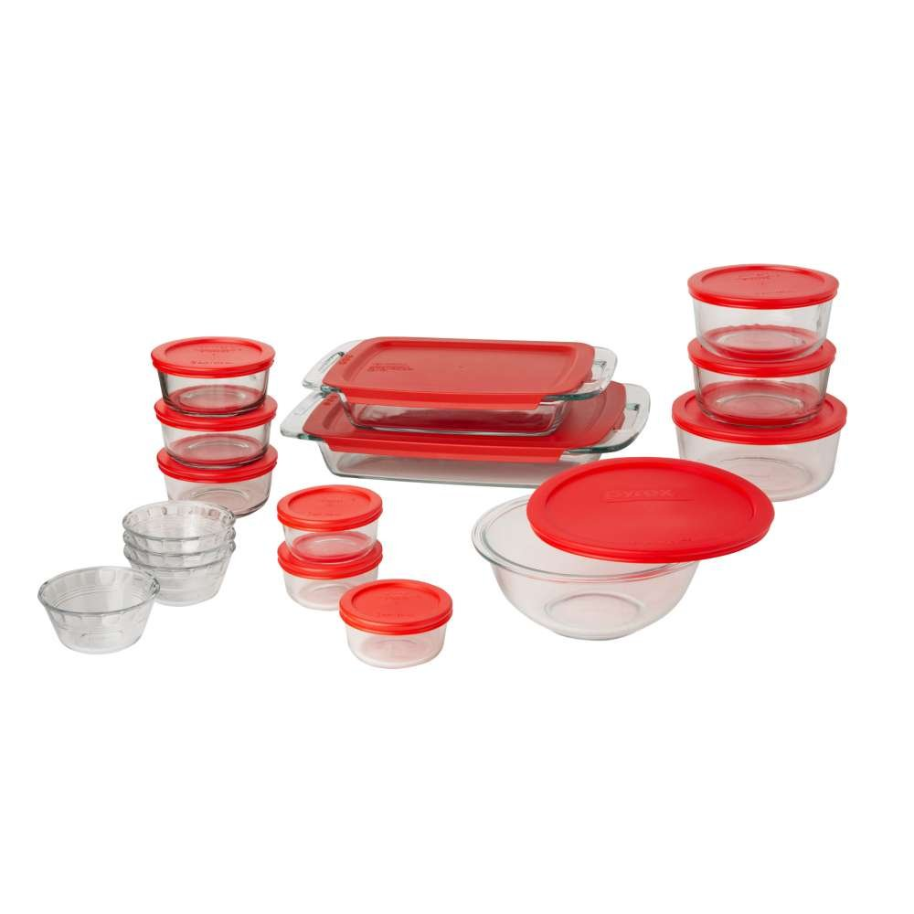Pyrex Easy Grab 28 Piece Glass Bakeware And Food Storage Set